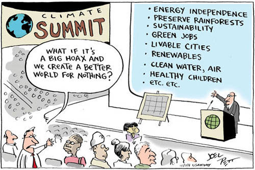Climate Summit by Joel Pett
