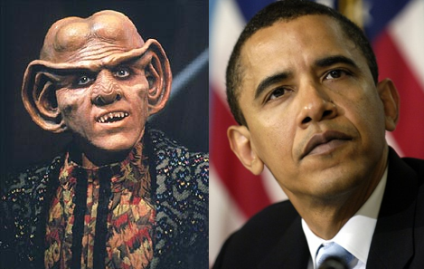 A side by side comparaision of Obama (left) and Quark (right).