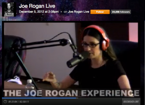 Cara Santa Maria on the Joe Rogan Experience Podcast